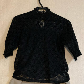 ジルスチュアート(JILLSTUART)の胸元からお袖がレースのたくさん活躍するアイテムです。(シャツ/ブラウス(半袖/袖なし))