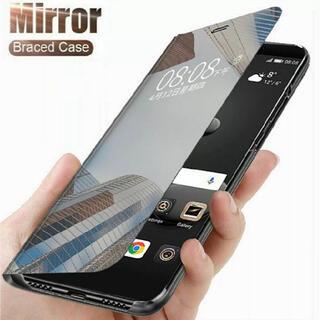 人気商品‼️マジックミラー iPhoneケース ミラー 手帳 鏡面 手帳型