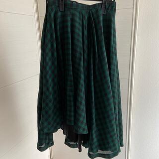 ルシェルブルー(LE CIEL BLEU)のLE CIEL BLEU チェック巻きスカート(ひざ丈スカート)