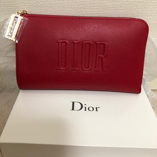 ディオール(Dior)のDIOR 赤ポーチ(ポーチ)