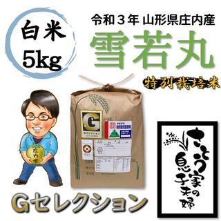 令和3年 山形県庄内産 雪若丸 白米5kg Gセレクション 特別栽培米(米/穀物)