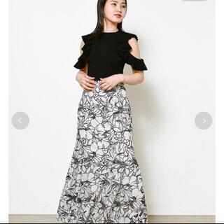 snidel - カッティングレースマーメイドスカート