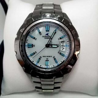 カシオ(CASIO)のCASIO OCEANUS CACHALOT OCW-P100TD-7AJF 白(腕時計(アナログ))