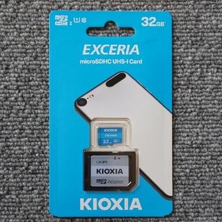 トウシバ(東芝)のKIOXIA microSDカード 32GB(アダプター付)(その他)