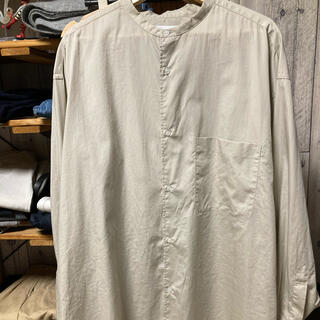 1LDK SELECT - グラフペーパー  19aw バンドカラーシャツ