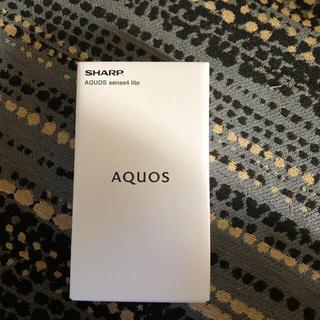アクオス(AQUOS)のAQUOS sense4 lite ブラック SIMフリー(スマートフォン本体)