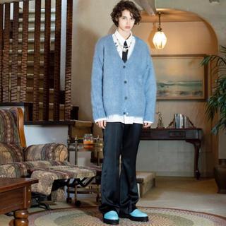 DAIRIKU  Mohair Knit Cardigan Youth Blue