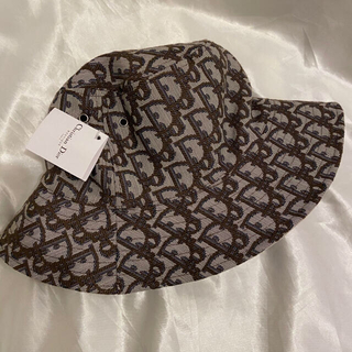 Christian Dior - 新品 Christian Dior  ロゴ バケットハット ベージュ 帽子