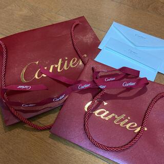 カルティエ(Cartier)のカルティエの袋2点と封筒2点リボン付き(ショップ袋)