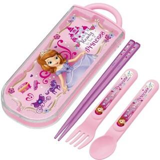 Disney - ちいさなプリンセス ソフィア トリオセット 新品 お箸 スプーン 女の子