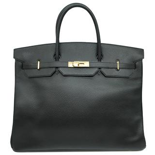 エルメス(Hermes)のエルメス  ハンドバッグ  バーキン40  □F刻印 ブラック(ハンドバッグ)