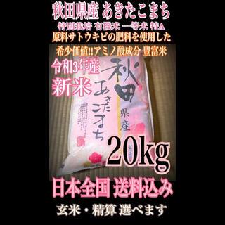 農家直送⭐秋田県産 あきたこまち 20kg 特別栽培 有機米 一等米 特Aランク(米/穀物)