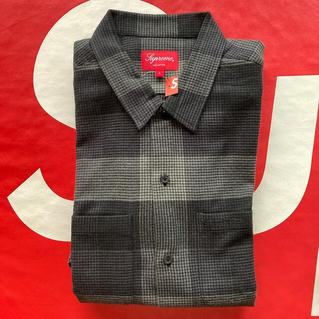 Supreme(シュプリーム)の21fw Supreme Plaid Flannel Shirt 黒 L 新品 メンズのトップス(シャツ)の商品写真