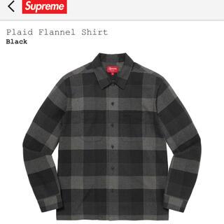 Supreme - 21fw Supreme Plaid Flannel Shirt 黒 L 新品