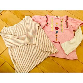 ムジルシリョウヒン(MUJI (無印良品))の女の子 まとめ売り 100(Tシャツ/カットソー)
