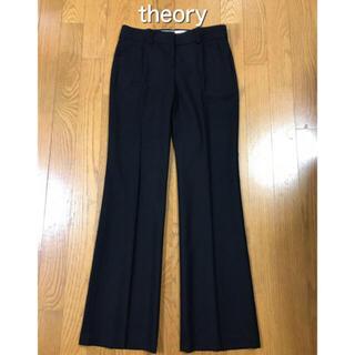 セオリー(theory)のセオリー theory センタープレス パンツ スラックス 黒 ブラック(カジュアルパンツ)