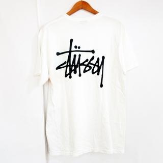 STUSSY - ステューシー Tシャツ 半袖 バックプリント ビッグロゴ 白 M
