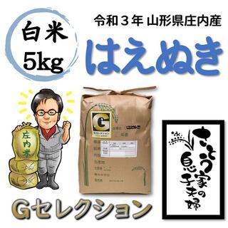 令和3年 山形県庄内産 はえぬき 白米5kg Gセレクション(米/穀物)