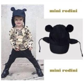 コドモビームス(こども ビームス)のminirodini キッズ 帽子 耳つき帽子 ネイビー 52-54cm(帽子)