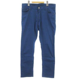 ビームス(BEAMS)のビームス ピケ アンクルカット 5ポケットパンツ カラー ストレッチ ブルー M(スラックス)