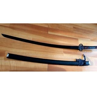 観賞用 模造刀 日輪刀風 黒刀 金属(小道具)