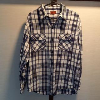 Levi's - Levi'sコットンワークシャツ白紺黒チェックMEDIUM新品同様