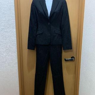 ミッシェルクラン(MICHEL KLEIN)のMICHEL KLEN パンツスーツ 36 ブラックストライプ(スーツ)