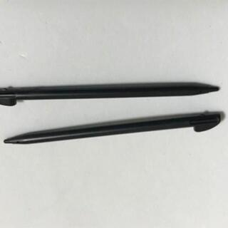 ニンテンドー3DS(ニンテンドー3DS)の3DSLL 専用タッチペン 黒 2本セット 検) 本体 パーツ(携帯用ゲーム機本体)
