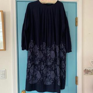 mina perhonen - お値下げミナペルホネン ランドリー ワンピース ドレス ホームサークル ネイビー
