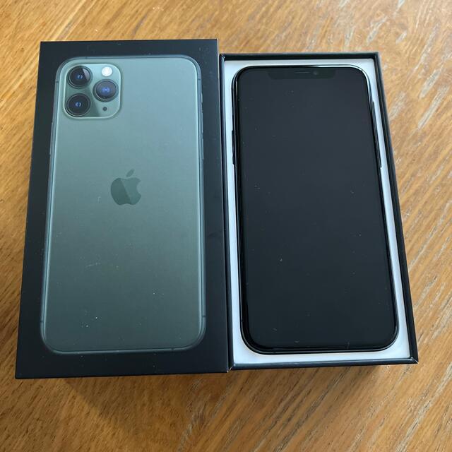 iPhone(アイフォーン)のiPhone11pro 64GB ミッドナイトグリーン スマホ/家電/カメラのスマートフォン/携帯電話(スマートフォン本体)の商品写真
