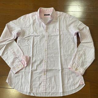 バーバリーブラックレーベル(BURBERRY BLACK LABEL)のバーバリーブラックレーベル☆ストライプ柄ピンク長袖シャツ(シャツ)