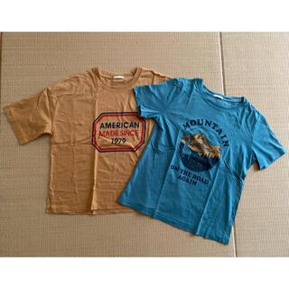 ジーユー(GU)のGU ジーユー トップス Tシャツ 半袖 2枚セット(Tシャツ(半袖/袖なし))