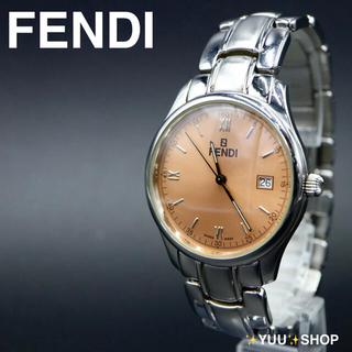 フェンディ(FENDI)の人気【電池新品】FENDI 210G デイト ブラウン メンズ 腕時計 付属品(腕時計(アナログ))