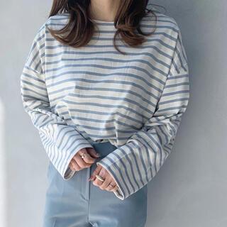 【未使用】le more トップス Tシャツ 長袖 ボーダー(Tシャツ(長袖/七分))