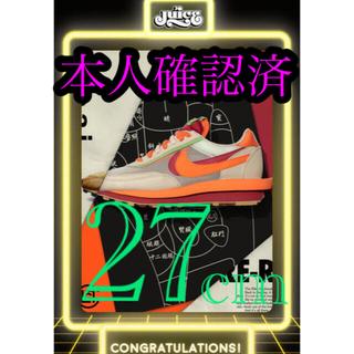 "NIKE - 本人確認済 クロット × サカイ × ナイキ LDワッフル ""オレンジ ブレイズ"
