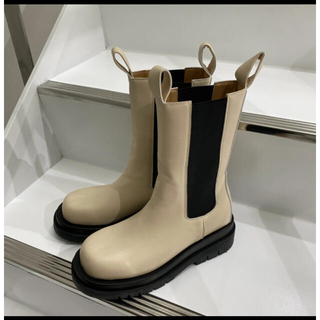TODAYFUL - willfully side gore middle boots ベージュ