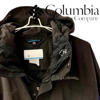 コロンビア(Columbia)のColumbia コロンビア マウンテンパーカー ナイロンジャケット 黒 L(マウンテンパーカー)