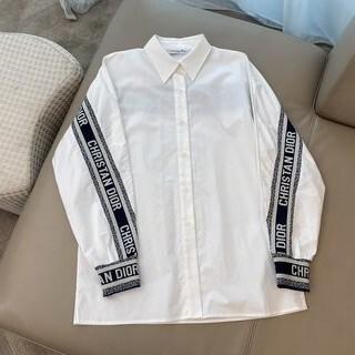 Dior - ディオール ロゴシャツ コットンポプリン ホワイト