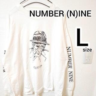ナンバーナイン(NUMBER (N)INE)のナンバーナイン 白 長袖Tシャツ ロングスリーブ メンズ size3 ホワイト(Tシャツ/カットソー(七分/長袖))