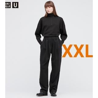 UNIQLO - UNIQLO U ユニクロ スウェットギャザーパンツ XXLサイズ ブラック