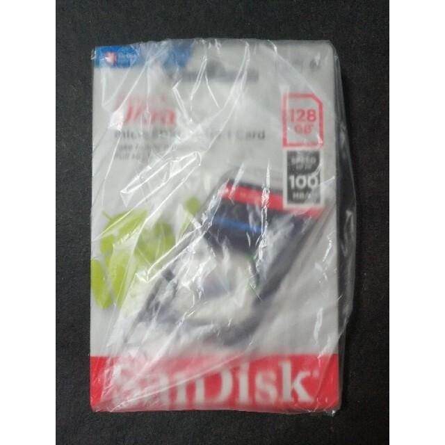 SanDisk microSD 128GB 100MB/s スマホ/家電/カメラのPC/タブレット(PC周辺機器)の商品写真