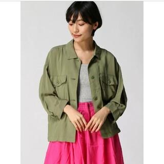 niko and... - ニコアンド■レーヨンBIGポケットミリタリーシャツジャケット