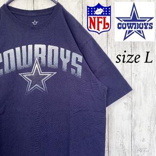 【NFL】ダラス・カウボーイズ Tシャツ 半袖 アメフト L 古着