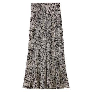 ココディール(COCO DEAL)のCOCODEAL / ラインフラワー配色刺繍ハイウエストマーメイドスカート(ロングスカート)