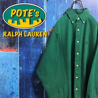 ラルフローレン(Ralph Lauren)の【ラルフローレン】ワンポイント刺繍ロゴストライプシャツ 90s(シャツ)