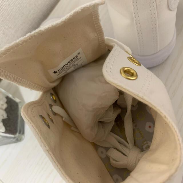 CONVERSE(コンバース)の【新品】コンバース ハイカット 軽量  ホワイト 24cm レディースの靴/シューズ(スニーカー)の商品写真
