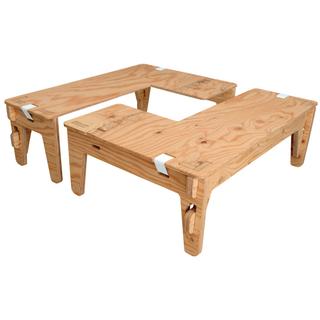 YOKA  ヨカ L型 テーブル 2枚セット 組み立て式