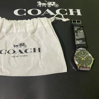 コーチ(COACH)のコーチ腕時計 メンズ グレーカモフラ迷彩3針クオーツ バクスターW1547(腕時計(アナログ))