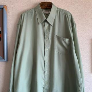ART VINTAGE - 90s ポリコットンシャツ レアカラー きれいめ 上質シャツ 光沢感 菅田将暉