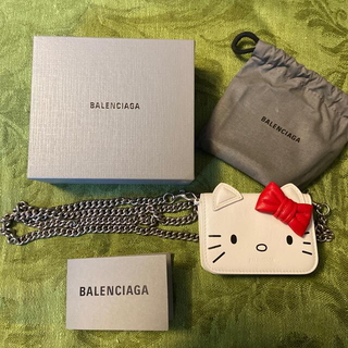 Balenciaga - 【新品未使用】BALENCIAGA バレンシアガ キティ チェーン 3つ折り財布